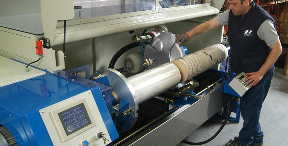 Heskins Single Knife Slitting Machine